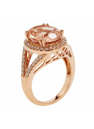 Indian Accessories Designers - Costar - Indian Fine Jewellery - Designer Rings - SOS-SS15-CJ-R11431P-MO - Alluring Oval Cut Ring