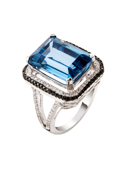 Indian Accessories Designers - Costar - Indian Fine Jewellery - Designer Rings - SOS-SS15-CJ-R11436W - Blue Topaz Stone Ring,import-uploads/Indian Accessories Designers - Costar - Indian Fine Jewellery - Designer Rings - SOS-SS15-CJ-R11436W - Blue Topaz Stone Ring - 2.jpg