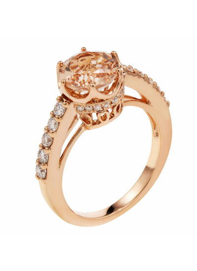 Indian Accessories Designers - Costar - Indian Fine Jewellery - Designer Rings - SOS-SS15-CJ-R11527P-MO - Enchanting Pink Gold Ring