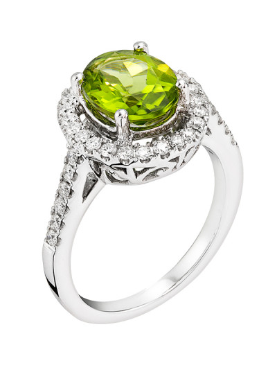 Indian Accessories Designers - Costar - Indian Fine Jewellery - Designer Rings - SOS-SS15-CJ-R11663W-PE - Oval Cut Peridot Ring,import-uploads/Indian Accessories Designers - Costar - Indian Fine Jewellery - Designer Rings - SOS-SS15-CJ-R11663W-PE - Oval Cut Peridot Ring - 2.jpg