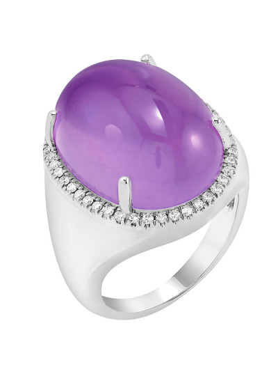 Indian Accessories Designers - Costar - Indian Fine Jewellery - Designer Rings - SOS-SS15-CJ-R11732W-AM - Amethyst Stone Ring,import-uploads/Indian Accessories Designers - Costar - Indian Fine Jewellery - Designer Rings - SOS-SS15-CJ-R11732W-AM - Amethyst Stone Ring - 2.jpg