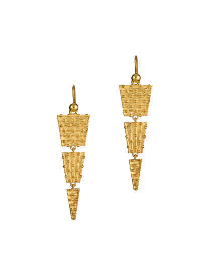 Indian Accessories Designers - Gitika Singh and Sreenivas Reddy - Indian Designer Jewellery - Earrings - ESA-SS15-ESA-0119 - Deccan Steppe Earrings