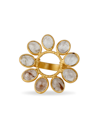 Indian Accessories Designers - Urban Dhani - Indian Designer Jewellery - Designer Rings - UD-SS15-R-01 - Pretty Flower Ring