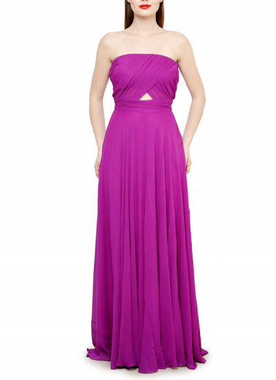 Indian Fashion Designers - Swatee Singh - Contemporary Indian Designer Clothes - Gowns - SWS-AW15-SSG-51 - Spring Purple Tube Gown