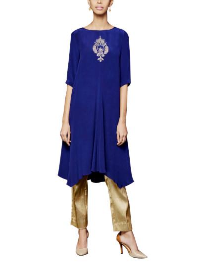 Indian Fashion Designers - Anita Dongre - Contemporary Indian Designer - The Pallava Kurta and Pants Set - AD-AW16-FW16MB091