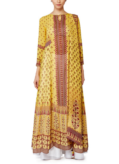 Indian Fashion Designers - Anita Dongre - Contemporary Indian Designer - Gulrukh Kurta Sharara and Dupatta - AD-SS16-SS16MB0143