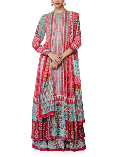 Indian Fashion Designers - Anita Dongre - Contemporary Indian Designer - Gulrukh Kurta Set - AD-SS16-SS16RR346