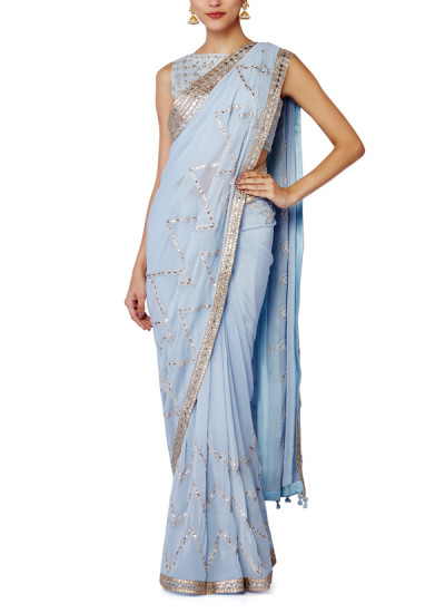 Indian Fashion Designers - Anita Dongre - Contemporary Indian Designer - Mulaqaat Saree Set - AD-SS16-SS16SJ128