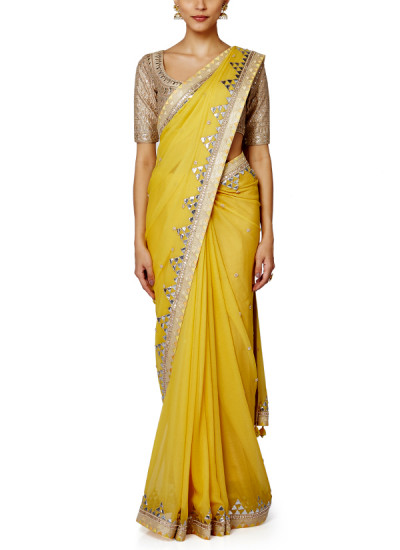 Indian Fashion Designers - Anita Dongre - Contemporary Indian Designer - Tahseen Saree - AD-SS16-SS16SJ194