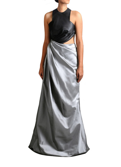 Indian Fashion Designers - Janaki - Contemporary Indian Designer - Glamorous Twisted Gown - JKI-SS16-G1