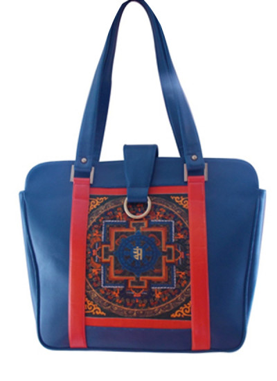 Indian Fashion Designers - Meera Mahadevia - Contemporary Indian Designer - Rangoli Design Handbag - MM-SS16-MA-TS-009