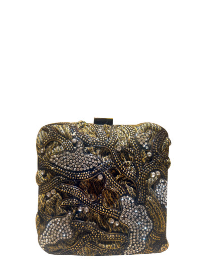 Indian Fashion Designers - Meera Mahadevia - Contemporary Indian Designer - Abstract Design Clutch - MM-SS16-MM-6709