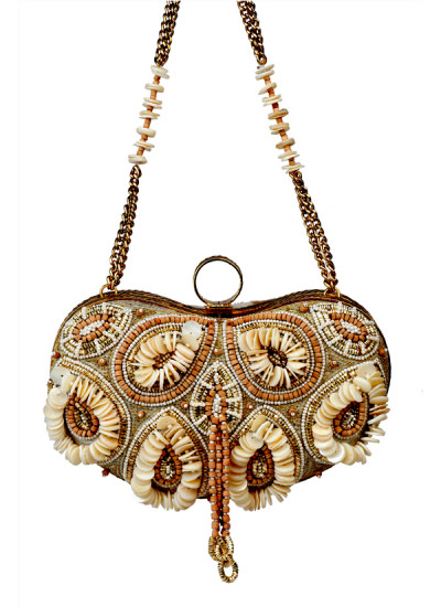 Indian Fashion Designers - Meera Mahadevia - Contemporary Indian Designer - Cute Heart Shaped Clutch - MM-SS16-MM-BB-CL-015