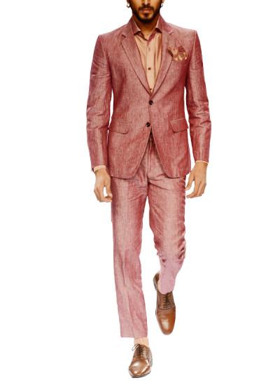 Indian Fashion Designers - Narendra Kumar - Contemporary Indian Designer - Mauve Two Buttoned Jacket Set - NK-AW15-PDF-M5-2