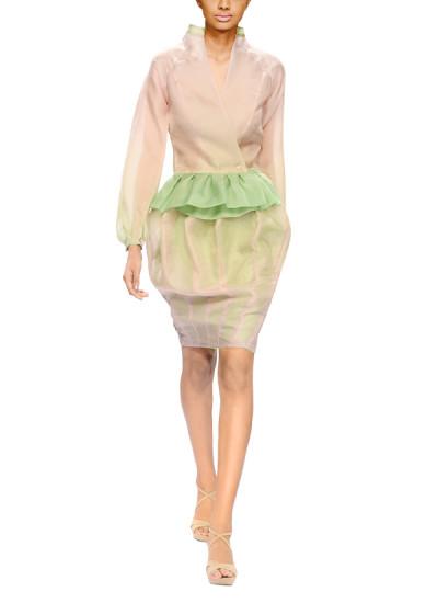 Indian Fashion Designers - Narendra Kumar - Contemporary Indian Designer - Ombre Jacket Set - NK-AW15-PDF-W11-1