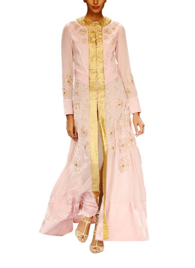 Indian Fashion Designers - Narendra Kumar - Contemporary Indian Designer - Lavender Embroidered Coat - NK-AW15-PDF-W22