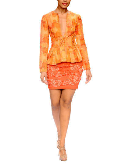 Indian Fashion Designers - Narendra Kumar - Contemporary Indian Designer - Jacket with Laser-Cut Skirt - NK-AW15-PDF-W5-1