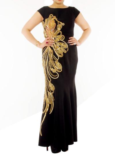Indian Fashion Designers - Neehara - Contemporary Indian Designer - Black Cocktail Dress - NH-SS16-NH-BT12