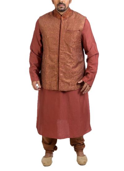 Indian Fashion Designers - Poonam Kasera - Contemporary Indian Designer - Stylish Brocade Jacket Set - PKR-SS16-DG-438