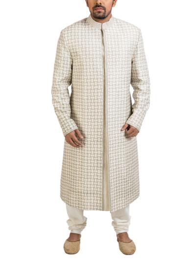 Indian Fashion Designers - Poonam Kasera - Contemporary Indian Designer - Applique Work Sherwani - PKR-SS16-S-34