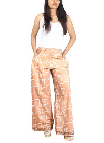 Indian Fashion Designers - Pulpypapaya - Contemporary Indian Designer - Caferon Batik Palazzo - PP-SS16-BKPZBR6002EHJ