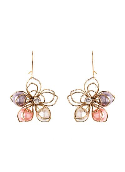 Indian Fashion Designers - Rejuvenate Jewels - Contemporary Indian Designer - Colourful Floral Earrings - RJJ-SS16-RJE530