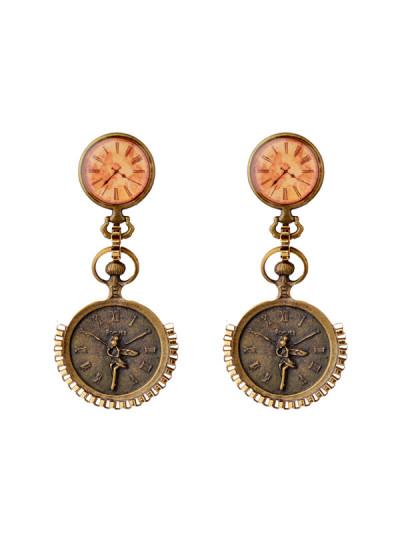 Indian Fashion Designers - Rejuvenate Jewels - Contemporary Indian Designer - Time is Treasure Earrings - RJJ-SS16-RJE548