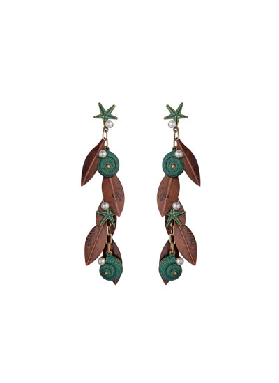 Indian Fashion Designers - Rejuvenate Jewels - Contemporary Indian Designer - Splendid Sea Earrings - RJJ-SS16-RJE552