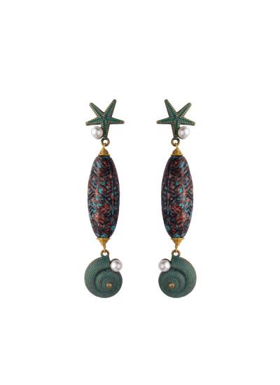 Indian Fashion Designers - Rejuvenate Jewels - Contemporary Indian Designer - Sea Mermaid Earrings - RJJ-SS16-RJE553