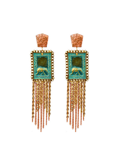 Indian Fashion Designers - Rejuvenate Jewels - Contemporary Indian Designer - Elegant Elephant Earrings - RJJ-SS16-RJE582