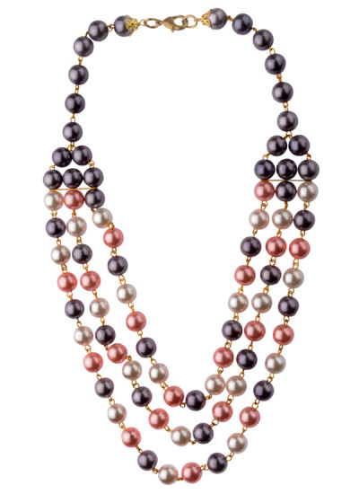 Indian Fashion Designers - Rejuvenate Jewels - Contemporary Indian Designer - Triple Strand Pearls Necklace - RJJ-SS16-RJN843