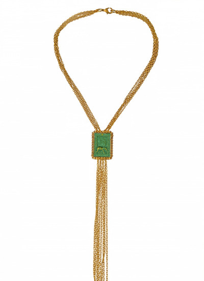 Indian Fashion Designers - Rejuvenate Jewels - Contemporary Indian Designer - Elegant Elephant Necklace - RJJ-SS16-RJN932