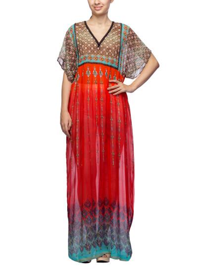Satya Suman Printed Crystal Embellished Gown Shop