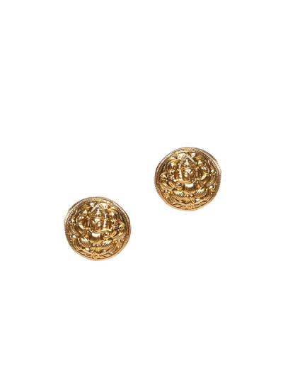 Indian Fashion Designers - Silvermerc - Contemporary Indian Designer - Round Studded Silver Earrings - SM-SS16-SME-1439