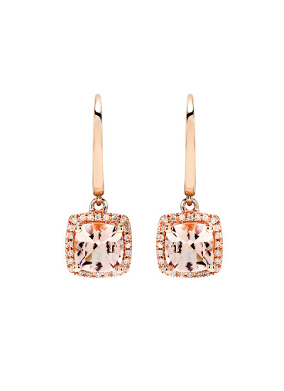 Indian Fashion Designers - Strand of Silk - Contemporary Indian Designer - Contemperory Rose Gold Earings - SOS-AW15-CJ-RE22322P-MO