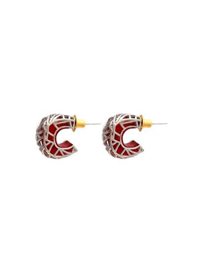 Indian Fashion Designers - Te Maya - Contemporary Indian Designer - Bird Motif Sterling Silver Bali  - TMA-SS16-1149