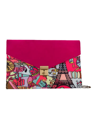 Indian Fashion Designers - The Purple Sack - Contemporary Indian Designer - Crafty Digital Printed Clutch - TPS-SS16-J21