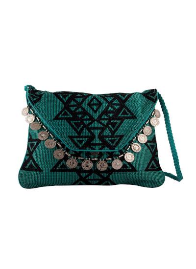 Indian Fashion Designers - The Purple Sack - Contemporary Indian Designer - Coin Fringe Sling Bag - TPS-SS16-J31
