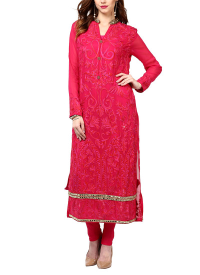 Indian Fashion Designers - True Browns - Contemporary Indian Designer - Pink Valley Suit - TBS-SS16-TB-00916