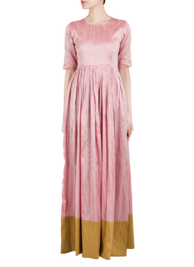 Indian Fashion Designers - True Browns - Contemporary Indian Designer - Rose Quartz Straight Dress - TBS-SS16-TB1019