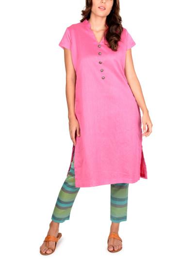 Indian Fashion Designers - True Browns - Contemporary Indian Designer - Pink Kurta Set - TBS-SS16-TB1084