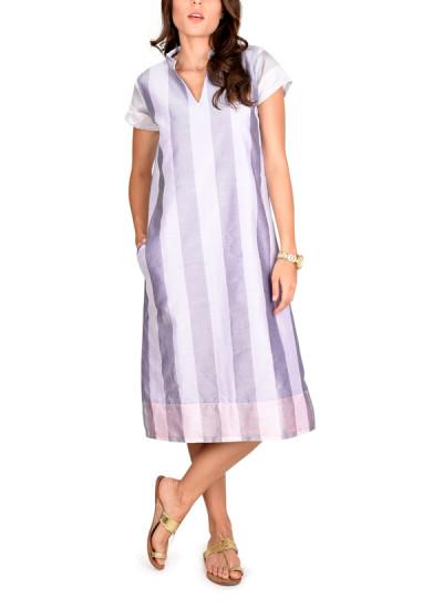 Indian Fashion Designers - True Browns - Contemporary Indian Designer - Striped Box Kurta Dress - TBS-SS16-TB1127
