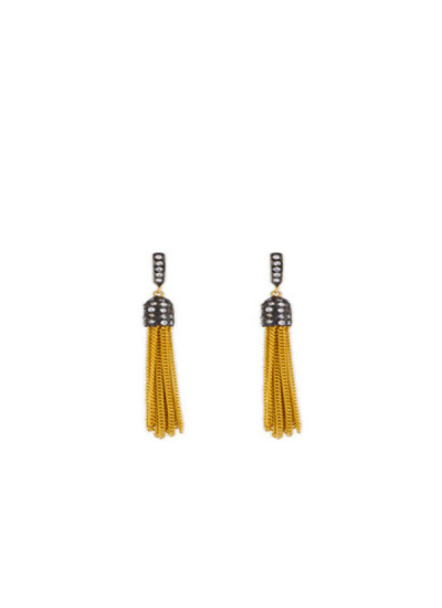 Indian Fashion Designers - Urban Dhani - Contemporary Indian Designer - Luxe Fringe Earrings - UD-SS16-UD-S2-GE-EAR-11