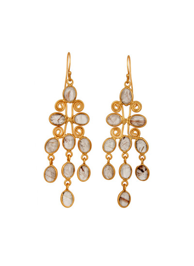 Indian Fashion Designers - Urban Dhani - Contemporary Indian Designer - Handmade Mystic Chandelier Earrings - UD-SS16-UD-S2-GE-EAR-13