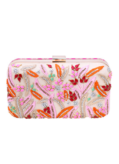 Indian Accessories Designers - Aarbe - Indian Designer Bags - ARB-SS15-AB-7 - Pretty Embroidered Clutch
