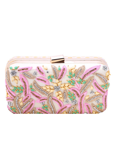 Indian Accessories Designers - Aarbe - Indian Designer Bags - ARB-SS15-AB-8 - Charming Floral Clutch