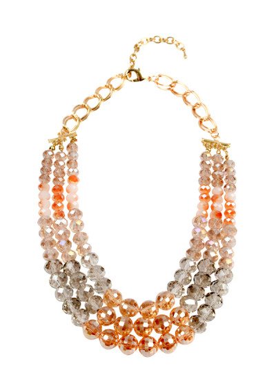 Indian Accessories Designers - Rhea - Indian Designer Jewellery - Necklaces - RH-SS15-6101061 - Champagne Bubbles Necklace