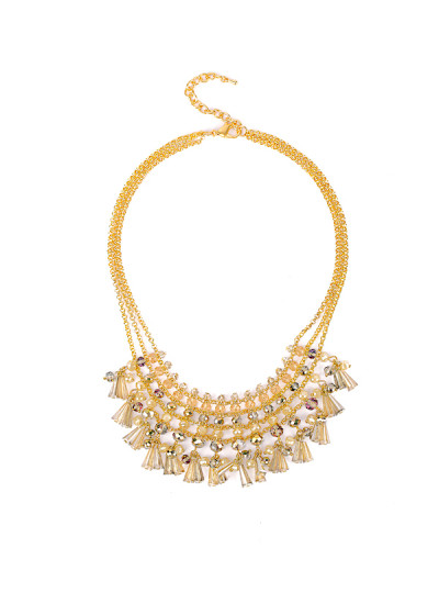 Indian Accessories Designers - Rhea - Indian Designer Jewellery - Necklaces - RH-SS15-6101081 - Fringe Melody Necklace