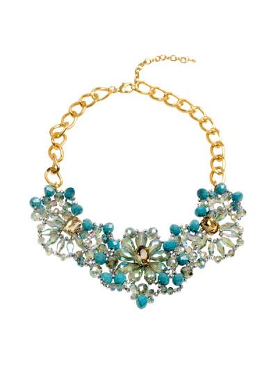Indian Accessories Designers - Rhea - Indian Designer Jewellery - Necklaces - RH-SS15-6101083 - Deep Carolina Blossom Necklace