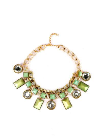 Indian Accessories Designers - Rhea - Indian Designer Jewellery - Necklaces - RH-SS15-8101018 - Tiffany Blue Necklace